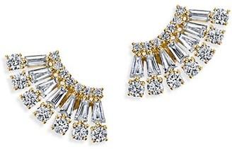 Anita Ko Ava 18K Yellow Gold & Diamond Floating Earrings
