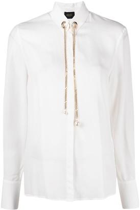 Liu Jo Chain Pearl Collar Blouse