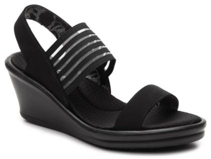 Skechers Black Wedge Heel Women's
