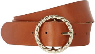 Loeffler Randall Twisted Circle Leather Belt
