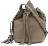 Saint Laurent small Anja tassel bucket bag - women - Kid Leather - One Size