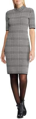 Chaps Petite Glen Plaid Cotton-Blend Sweater Dress