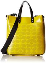 Orla Kiely Sixties Stem Punched Leather Burdock