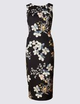Marks and Spencer Scuba Print Sleeveless Bodycon Dress