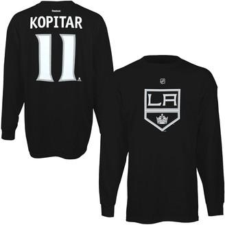 Reebok Mens Los Angeles Kings Anze Kopitar Black Name & Number Long Sleeve T-Shirt