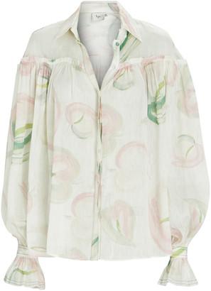 Aje Imprint Floral Button-Down Blouse
