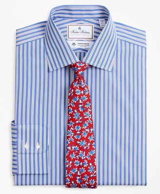 Brooks Brothers Luxury Collection Regent Fitted Dress Shirt, Franklin Spread Collar Outline Stripe