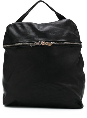 Guidi Soft Double-Zipped Backpack