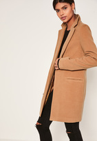 Missguided Tall Camel Brown Tailored Coat