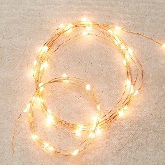 Indigo Led Micro Fairy Lights Gold String, 10 Ft