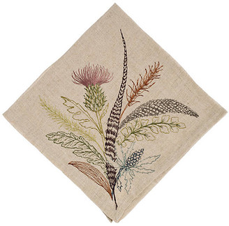 Coral & Tusk Thistle Dinner Napkin natural linen/multi