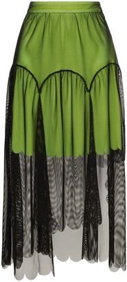 PASKAL clothes Tulle Overlay Midi Skirt