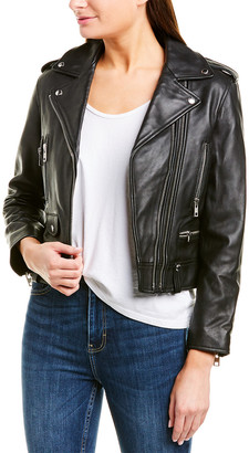Zadig & Voltaire Lenni Leather Butterfly Jacket