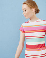 Ted Baker Pier Stripe fitted Tshirt