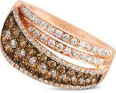 LeVian Le Vian Chocolatier® Chocolate and White Diamond Ring (1-1/2 ct. t.w.) in 14k Rose Gold
