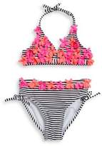 Flapdoodles Little Girl's Two-Piece Bikini Top And Bottom Set