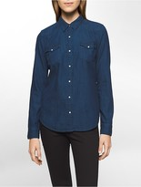 Calvin Klein Western Dark Wash Denim Shirt