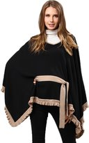 Sweet Mommy Organic Cotton 100% Ruffle and Bow Knit Poncho