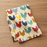 Crate & Barrel Multicolored Roosters Dish Towel