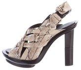 Calvin Klein Collection Snakeskin Slingback Sandals