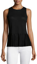 Theory Elvnee Drapey Pleated Peplum Top
