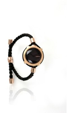 RumbaTime Gramercy Gem Lights Out with Custom Braided Band Watch