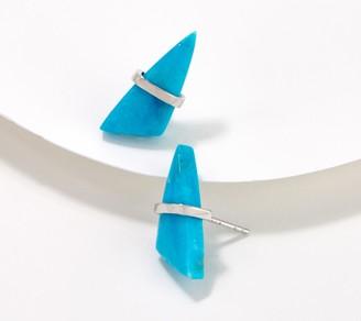 Generation Gems Triangle Gemstone Cabochon Earrings