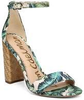 Sam Edelman Women's Yaro Palm Print Block Heel Sandals