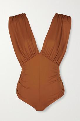 Marysia Swim Monterey Gathered Swimsuit - Camel