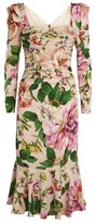 Dolce & Gabbana Floral Ruched Dress