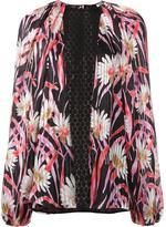Giambattista Valli floral crochet panel blouse - women - Silk - 40