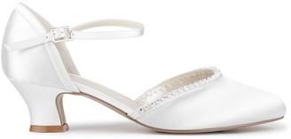 Paradox London Satin 'Alfie' Low Heel Court Shoes