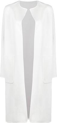 Manzoni 24 Fine Knit Side Slit Single-Breasted Coat