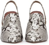 Reiss Hayley - Snake-print Slingback Mules in Brown, Womens