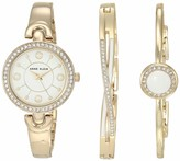 Anne Klein Women's Swarovski Crystal Accented Watch and Bangle Set AK/3574