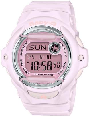 G-Shock Baby-g Women Digital Pink Resin Strap Watch 42.6mm