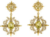 Paul Morelli 18K Quartz & Diamond Drop Earrings