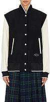 Rag & Bone Women's Leather-Sleeve Edith Varsity Jacket-BLACK