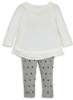 Splendid Infant Girls' Layered Hem Top & Waffle Leggings Set - Sizes 6-24 Months