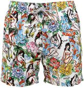 MC2 Saint Barth Gustavia Hula Micro Fiber Swim Shorts