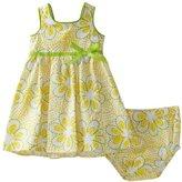 Kids Headquarters LilyBird Baby-girls Infant Print Dress, Yellow/White/Green, 24 Months