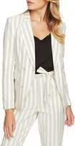 1 STATE 1.State Duet Modern Stripe Double Breasted Jacket