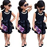 Hot Baby Dress! AMA(TM) Toddler Kids Baby Girls Sleeveless Princess Party Pageant Wedding Tulle Tutu Dresses (2/3T, Black)
