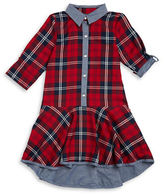 Iris & Ivy Girls 7-16 Plaid Dropped-Waist Dress