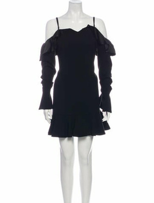 Jonathan Simkhai Off-The-Shoulder Mini Dress Black