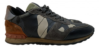 Valentino Rockrunner Green Leather Trainers