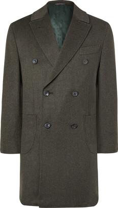 THOM SWEENEY - Double-Breasted Wool Overcoat - Men - Green