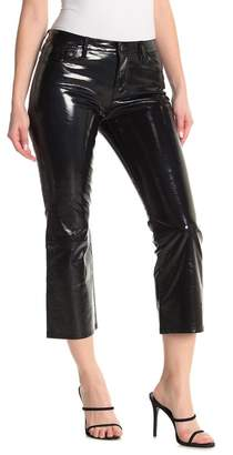 J Brand Selena Mid Rise Leather Bootcut Jeans