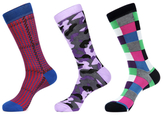 Jared Lang Houndstooth, Camouflage & Square Socks (3 PK)