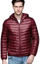 CHERRY CHICK Men's Light Weight Puffer Down Jacket with Hood Black